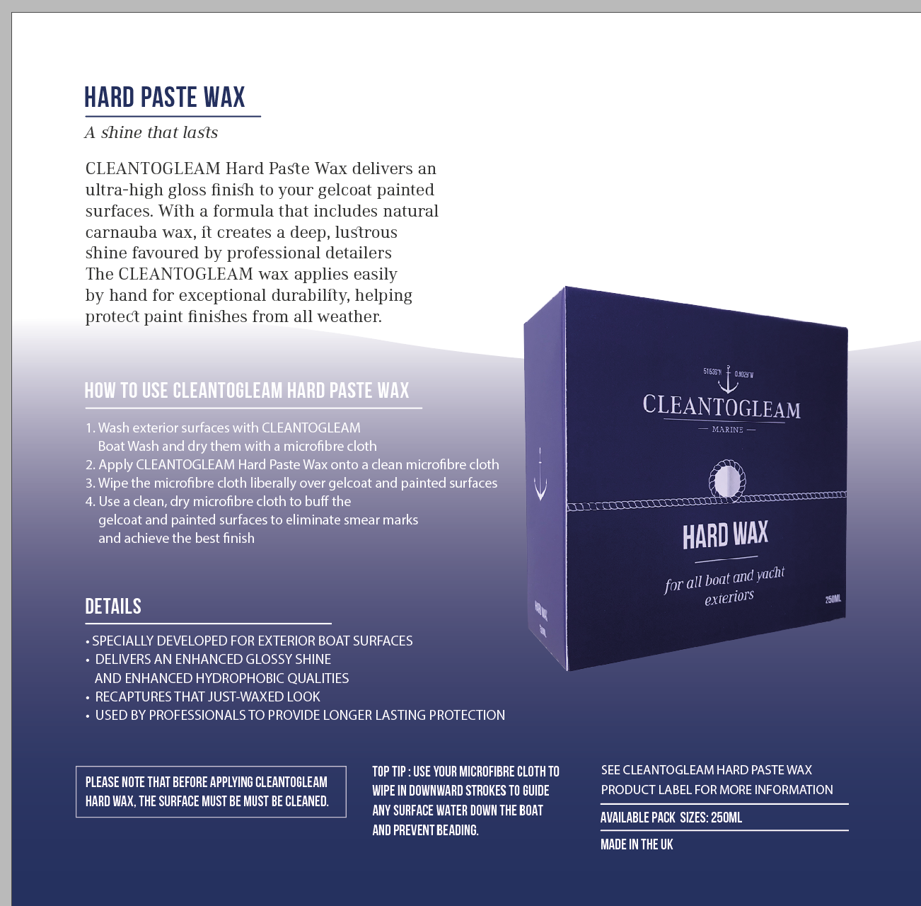 Cleantogleam's Hard Paste Wax - CleanToGleam